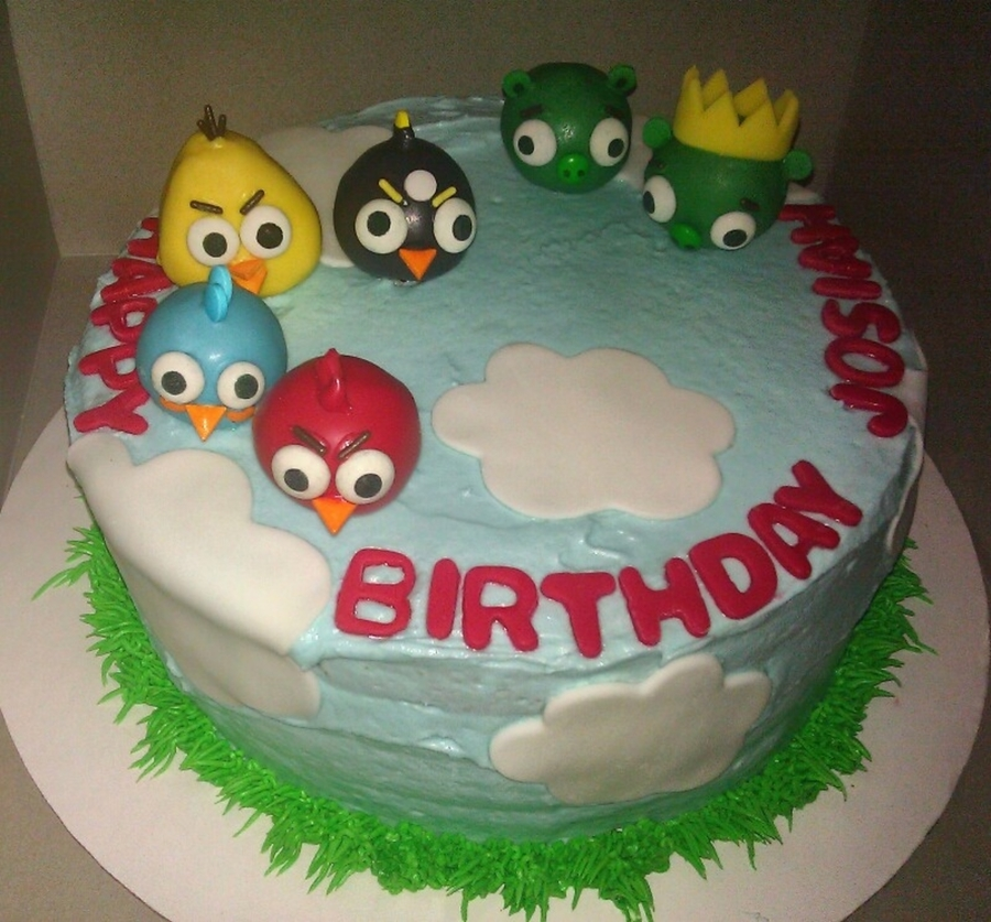 Angry Bird Cake W/ Cake Pops On Top on Cake Central