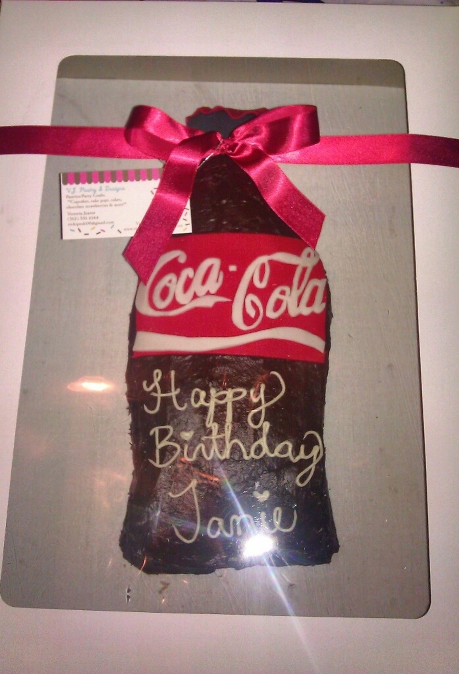 Coke Bottle Cake on Cake Central