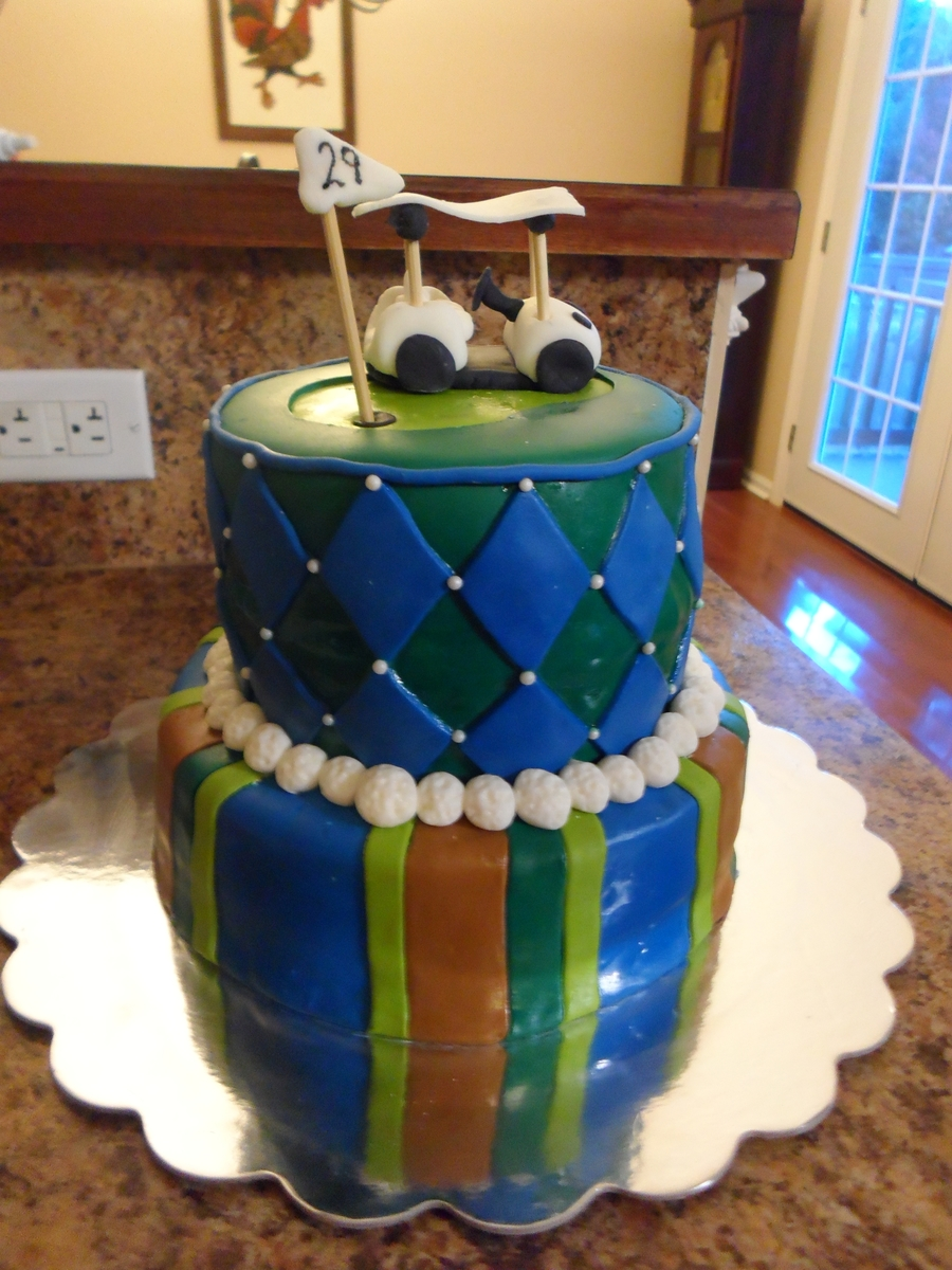 Golf Birthday Cake on Cake Central