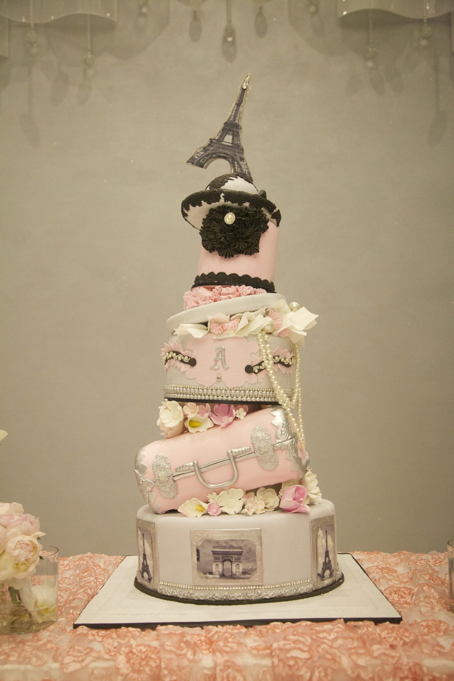 Paris Themes Christening on Cake Central