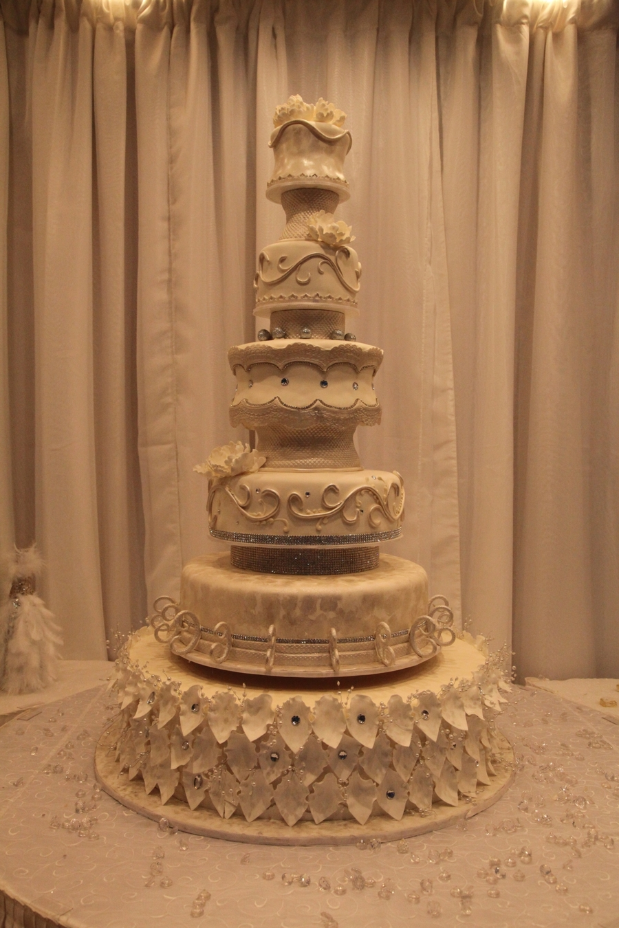 Antique Wedding Cake on Cake Central