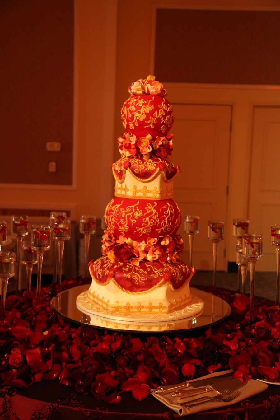 Indian Style Wedding Cake on Cake Central