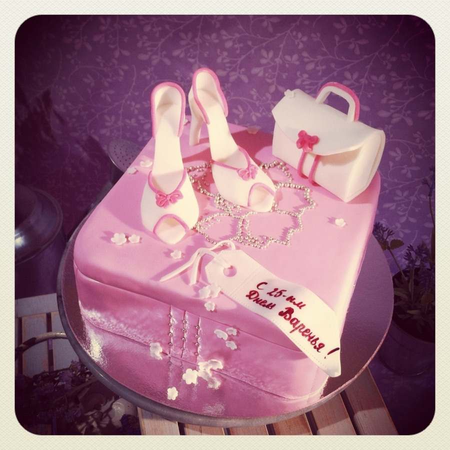 Pink Shoes And Handbag on Cake Central