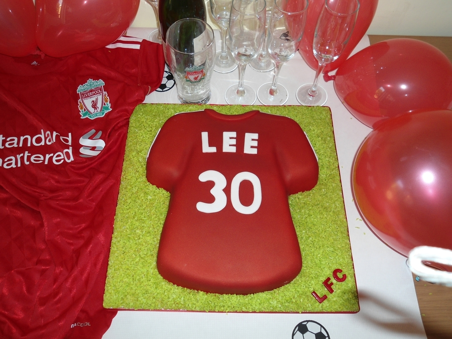 Liverpool Fc Shirt Birthday Cake on Cake Central
