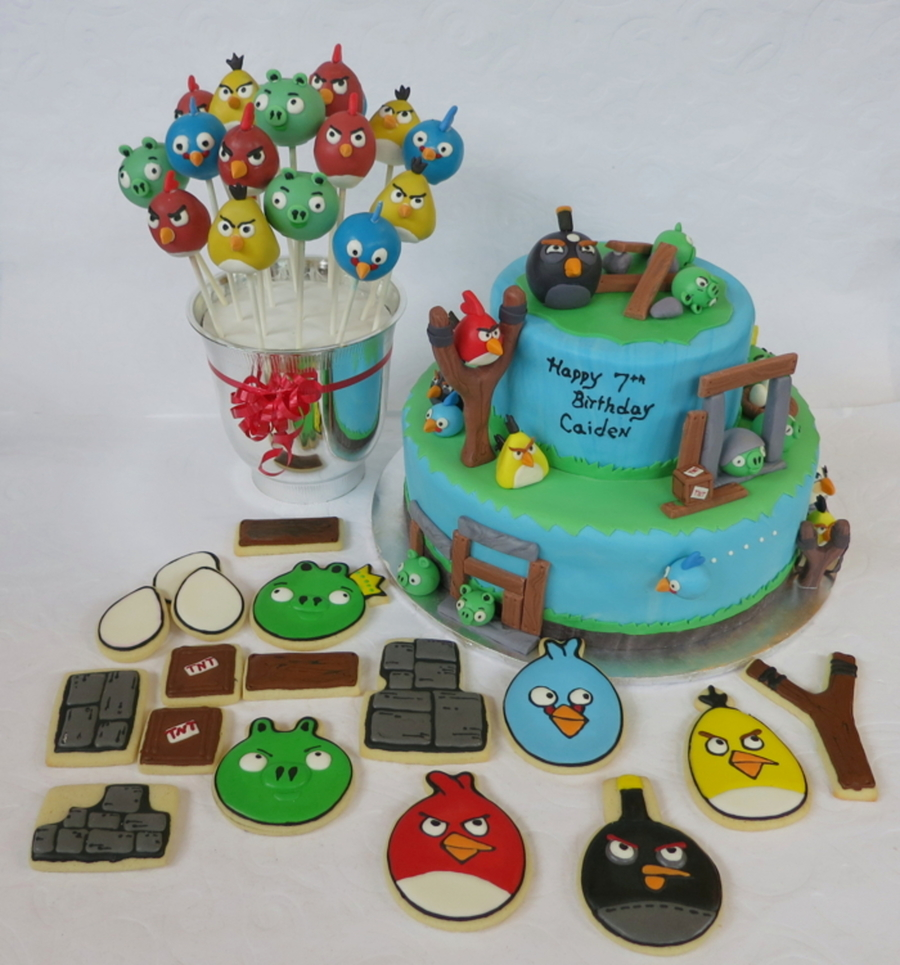 Angry Birds Party  on Cake Central