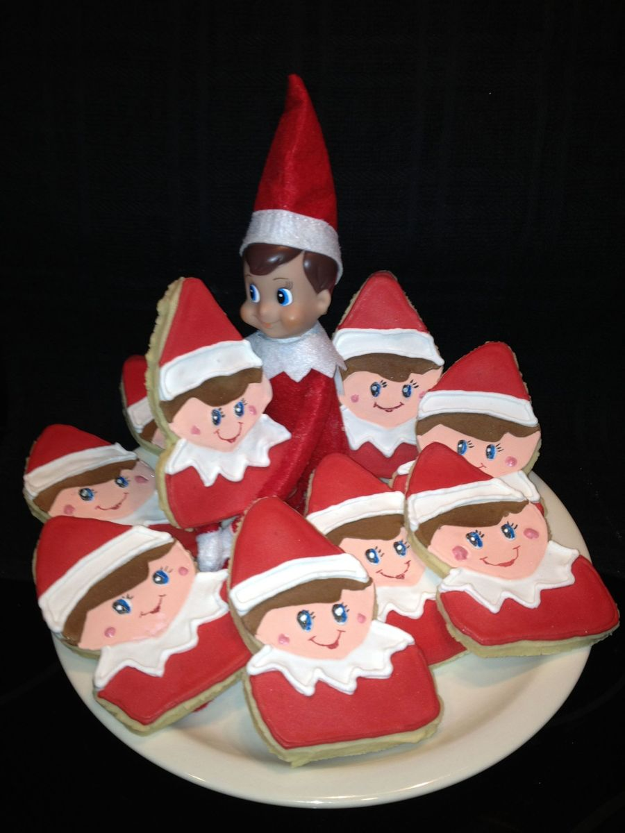 Elf On The Shelf Cookies on Cake Central