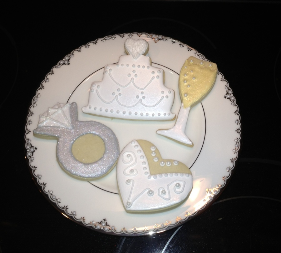 Wedding Engagement Cookies on Cake Central