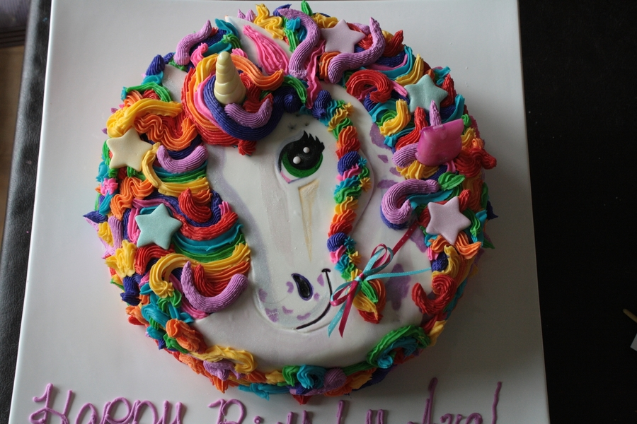 Lisa Frank Inspired Unicorn Cake  on Cake Central
