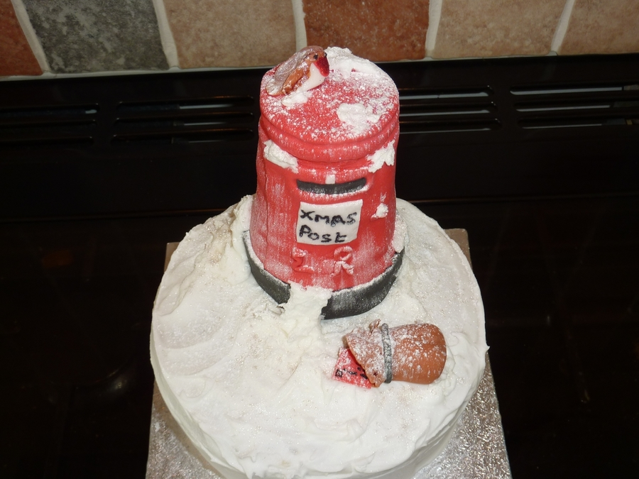 Post Box In The Snow on Cake Central