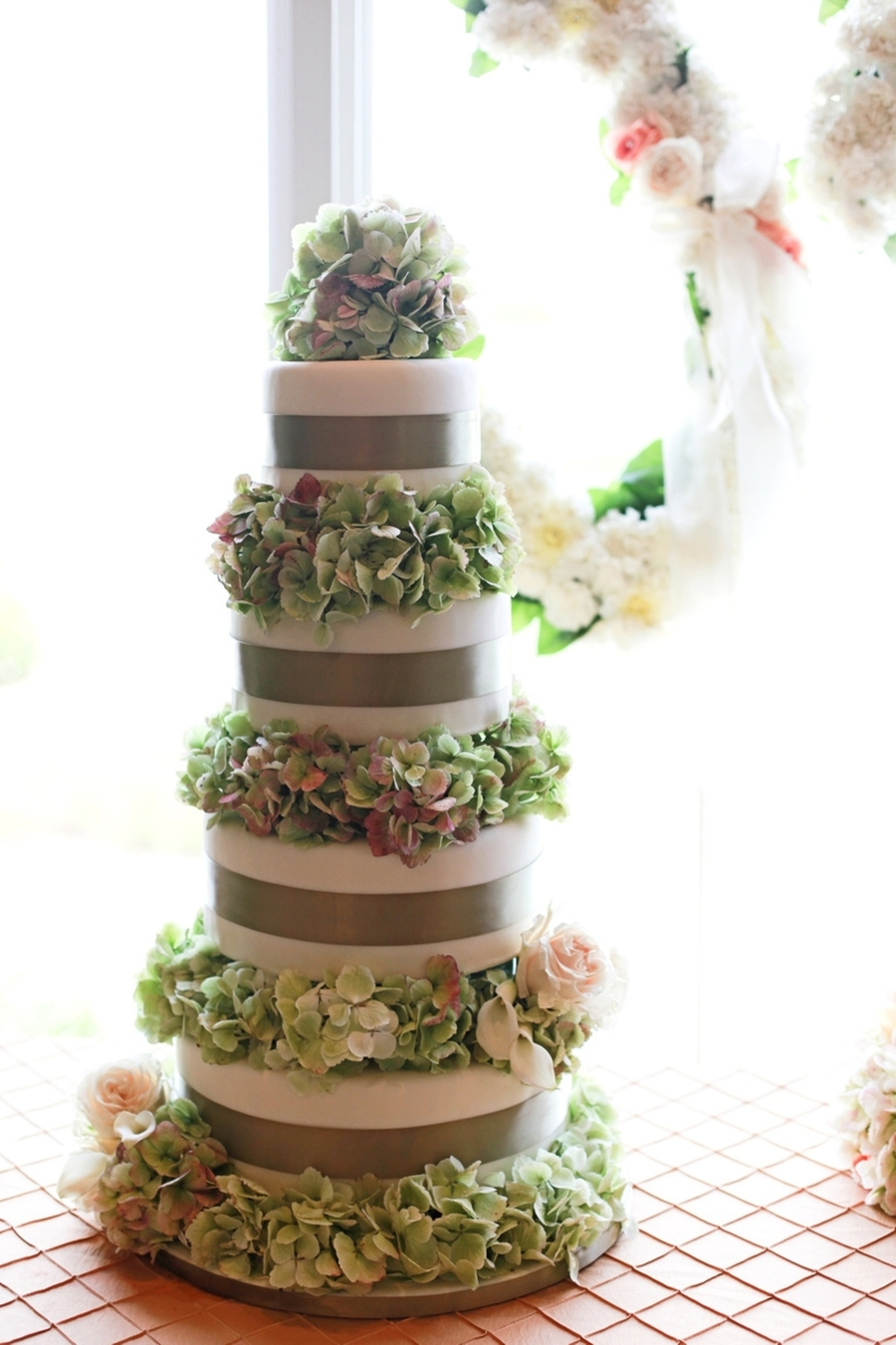 Height And Hydrangea  on Cake Central