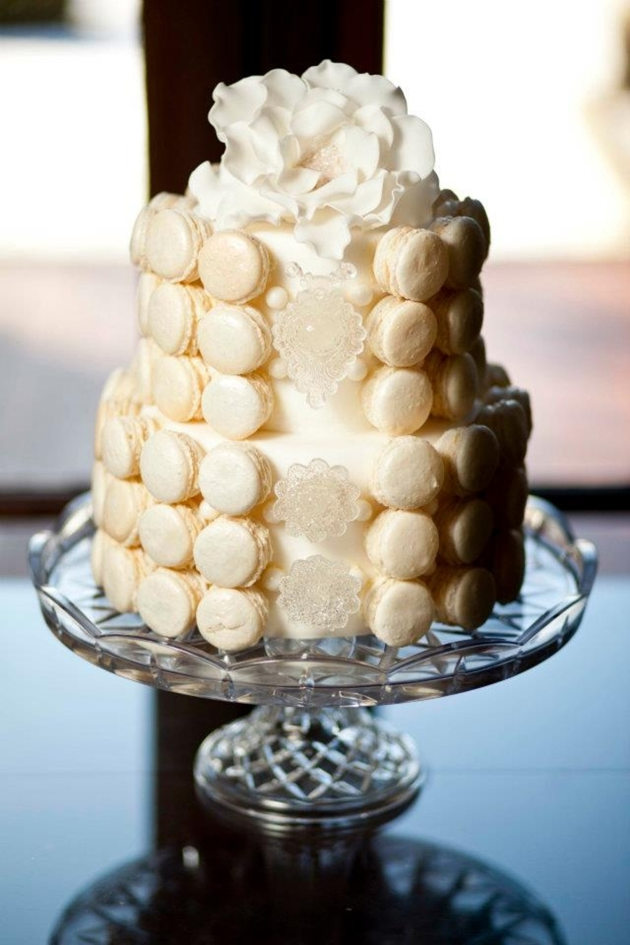 French Macaroon Wedding Cake  on Cake Central