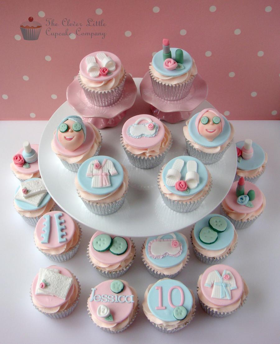 Spa cupcakes for Salon cake design