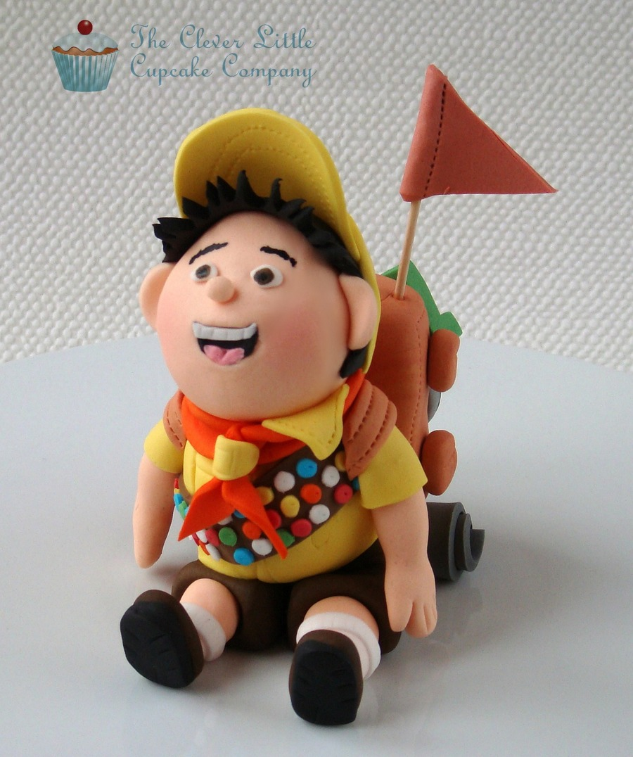 "Russell From Disney's ""up"" Fondant Figure  on Cake Central"