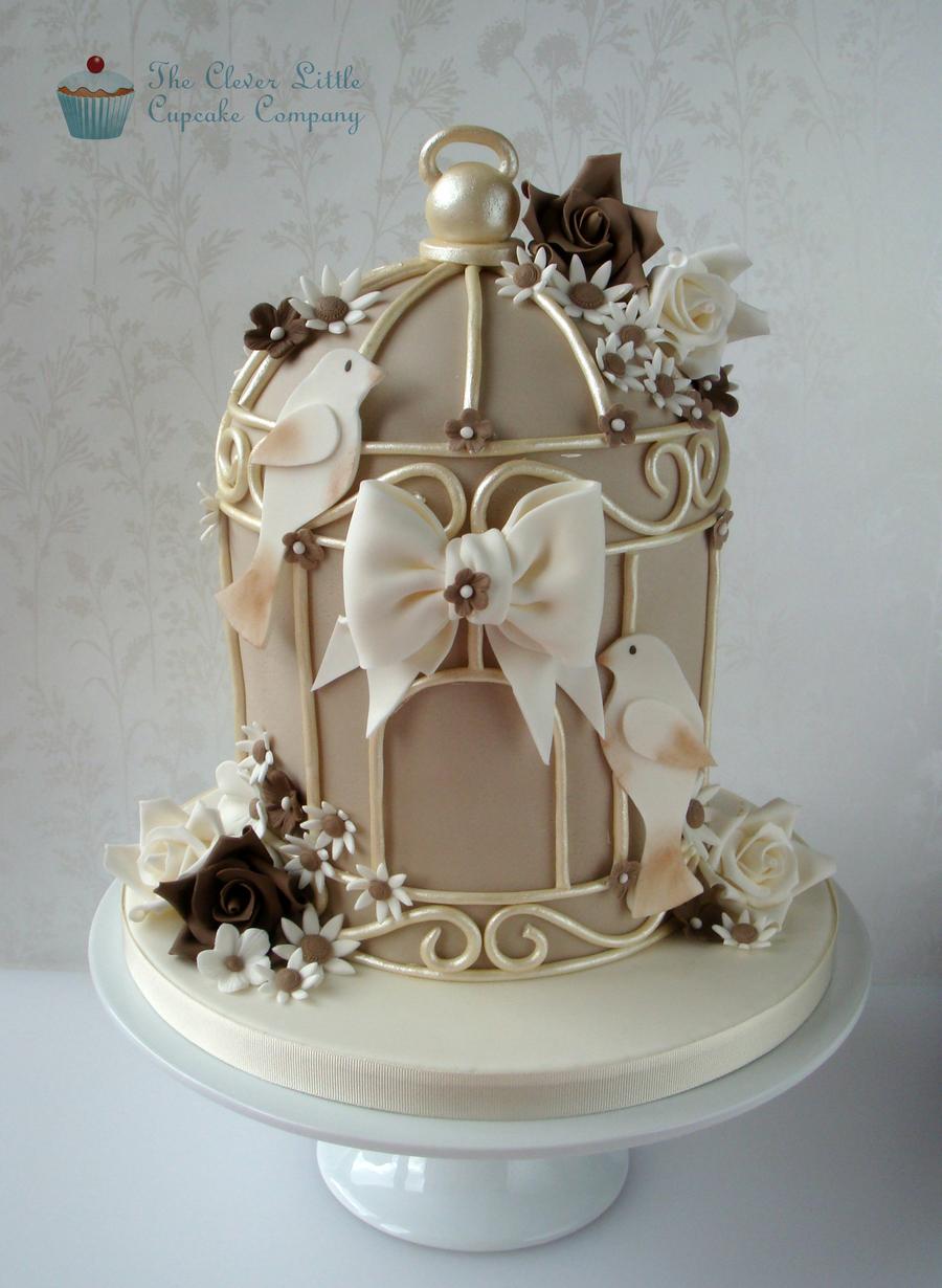 Birdcage Wedding Cake Cakecentral Com