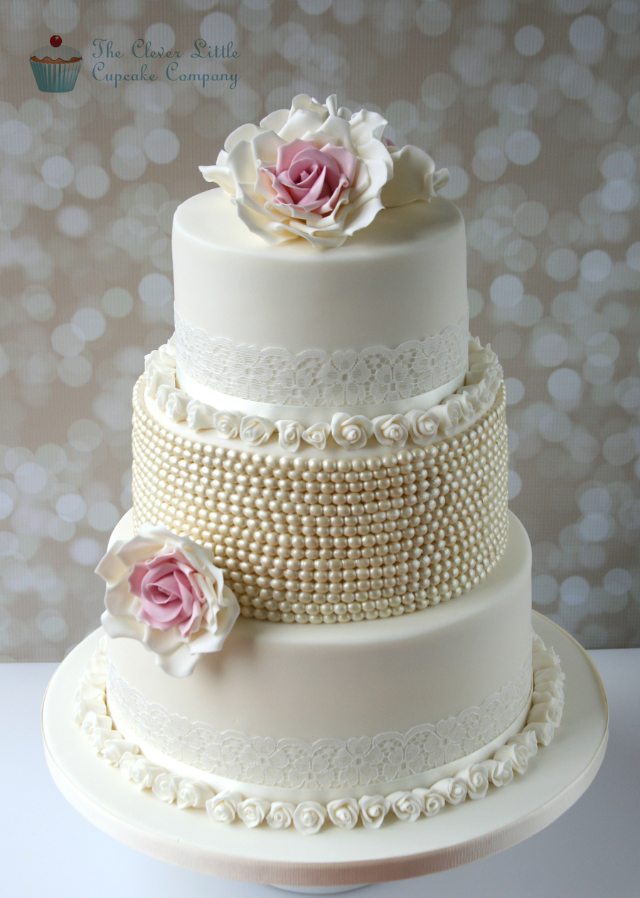 wedding cakes lace and pearl vintage lace amp pearl wedding cake cakecentral 24864