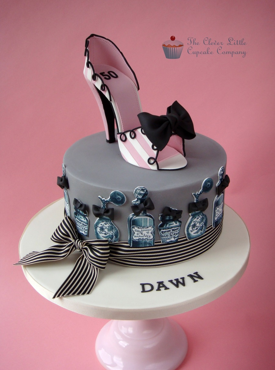 Birthday Cake Designs Shoes : Vintage Style Shoe Cake - CakeCentral.com