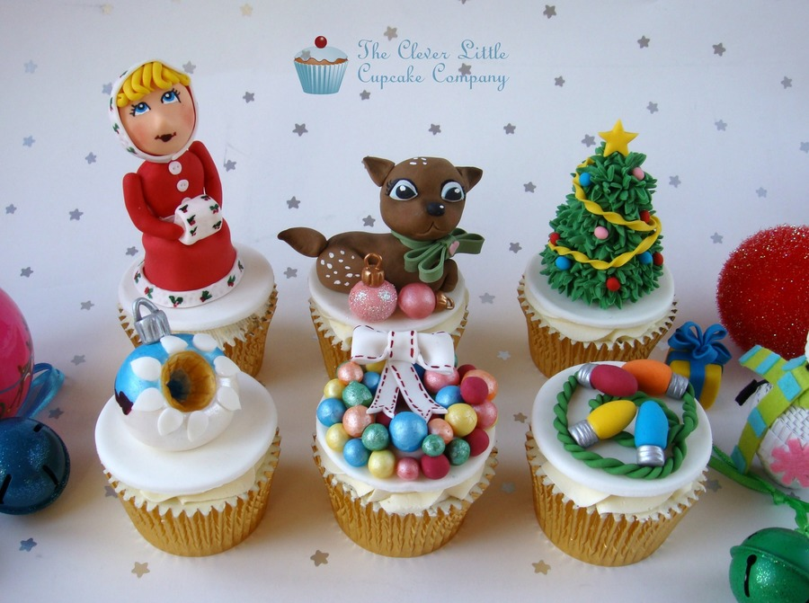 Vintage/kitsch Style Christmas Cupcakes on Cake Central