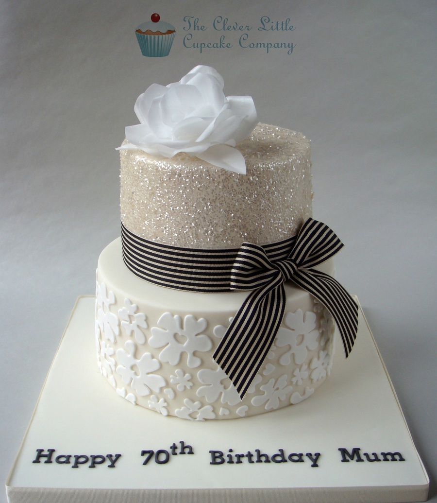 Glittery 70th Birthday Cake Cakecentral Com