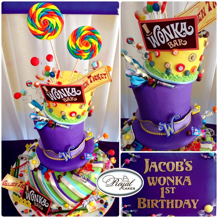 Wonka World Whimsical And Yummy 1St Birthday Willy Wonka Cake So Fun on Cake Central