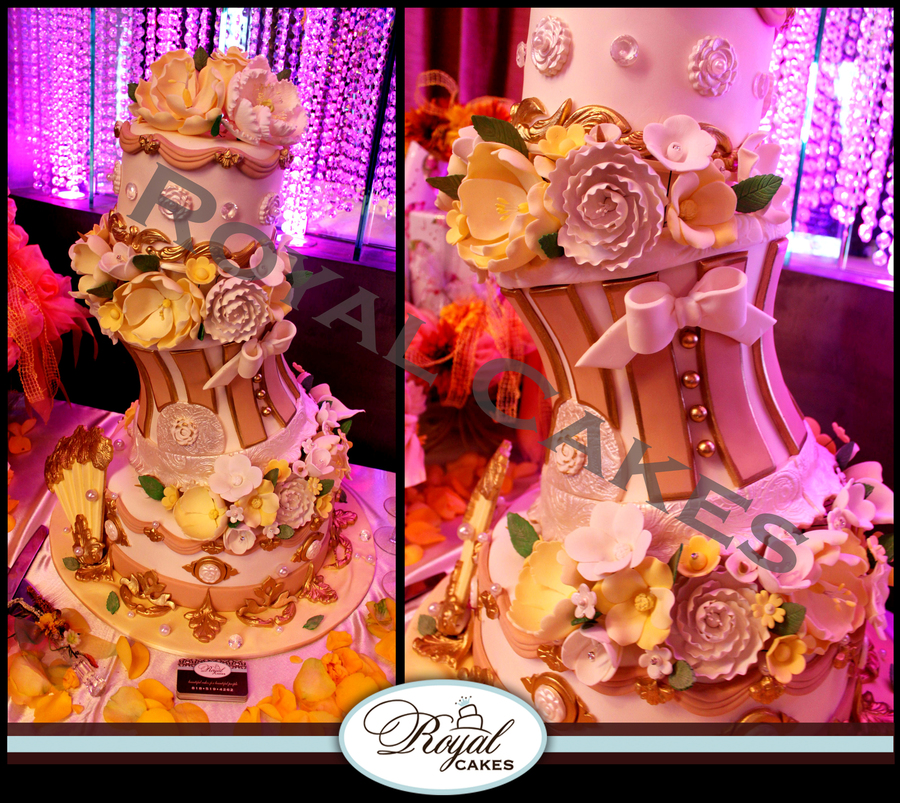 Victorian Bliss Bridal Shower Cake Wwwroyalcakeslacom on Cake Central