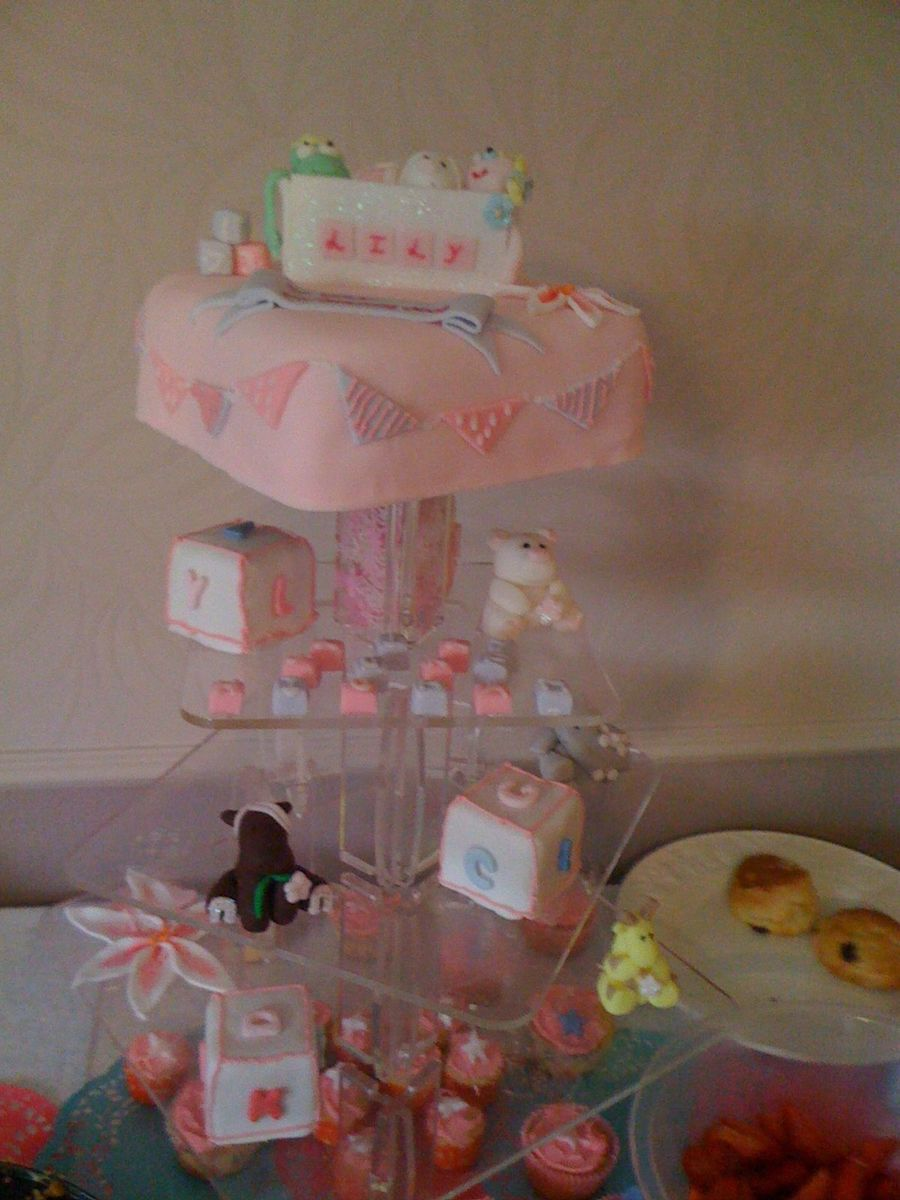 Girls Christening Cake on Cake Central