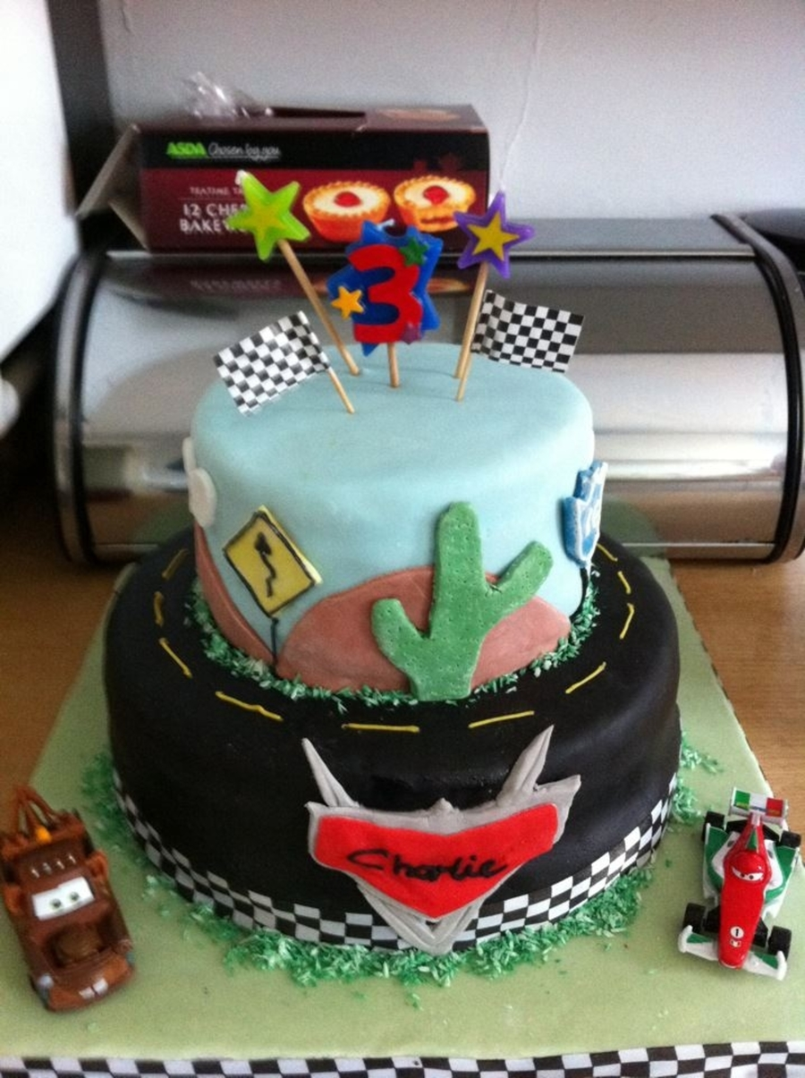 Disney Cars Themed Birthday Cake on Cake Central