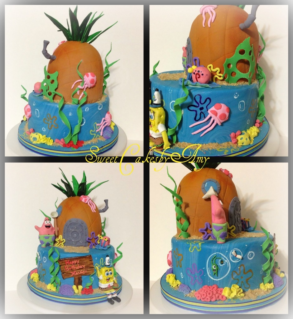 spongebob squarepants birthday cake cakecentral com
