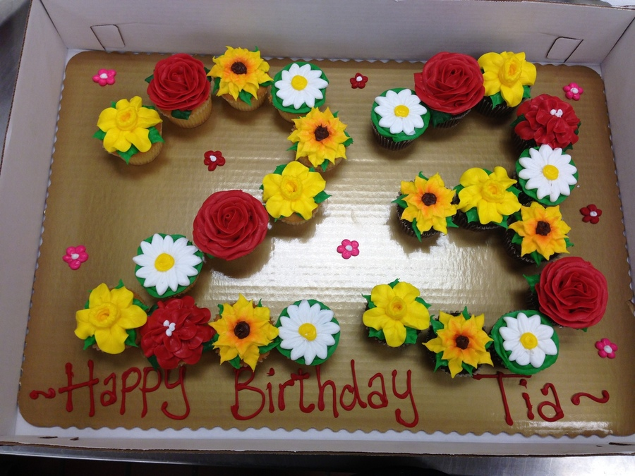 Daffodils, Roses, Sunflowers, And Daisy Cupcake Creation on Cake Central