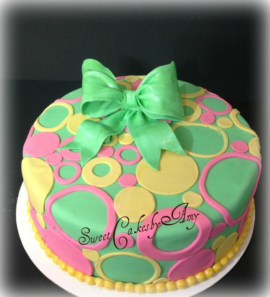 Pastel Circle Birthday Cake On Central