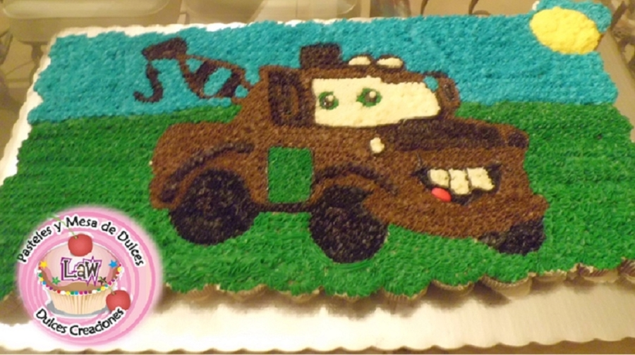 Cars Mate Cupcake Cake on Cake Central