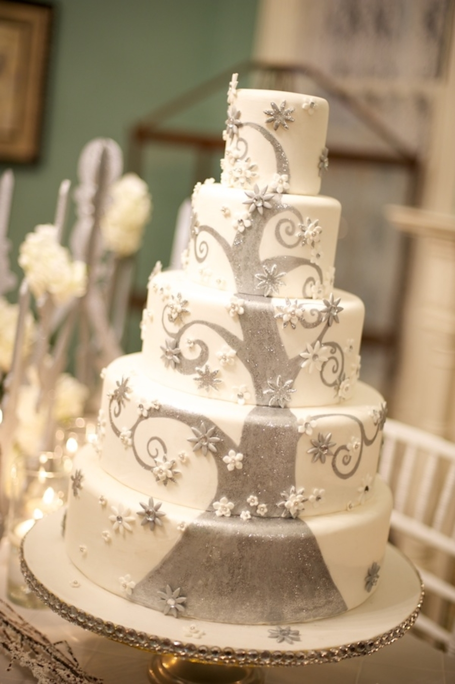 Winter Fantasy Wedding Cake on Cake Central