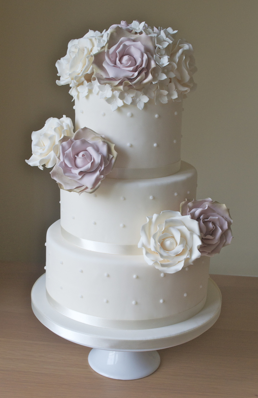Vintage Roses Wedding Cake on Cake Central