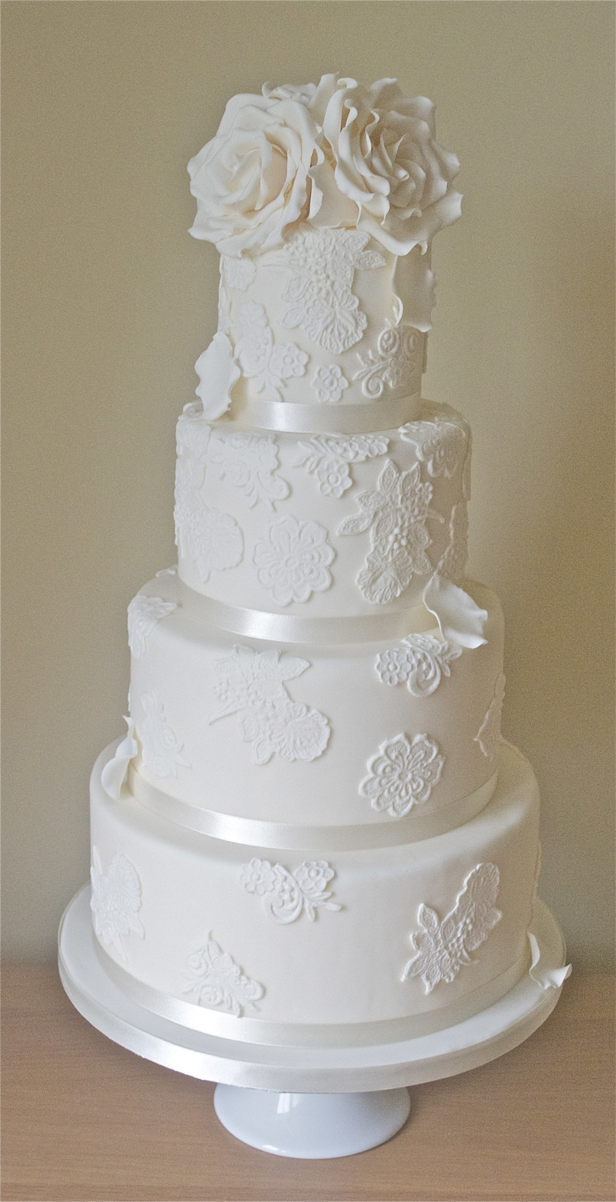 Lace Wedding Cake on Cake Central