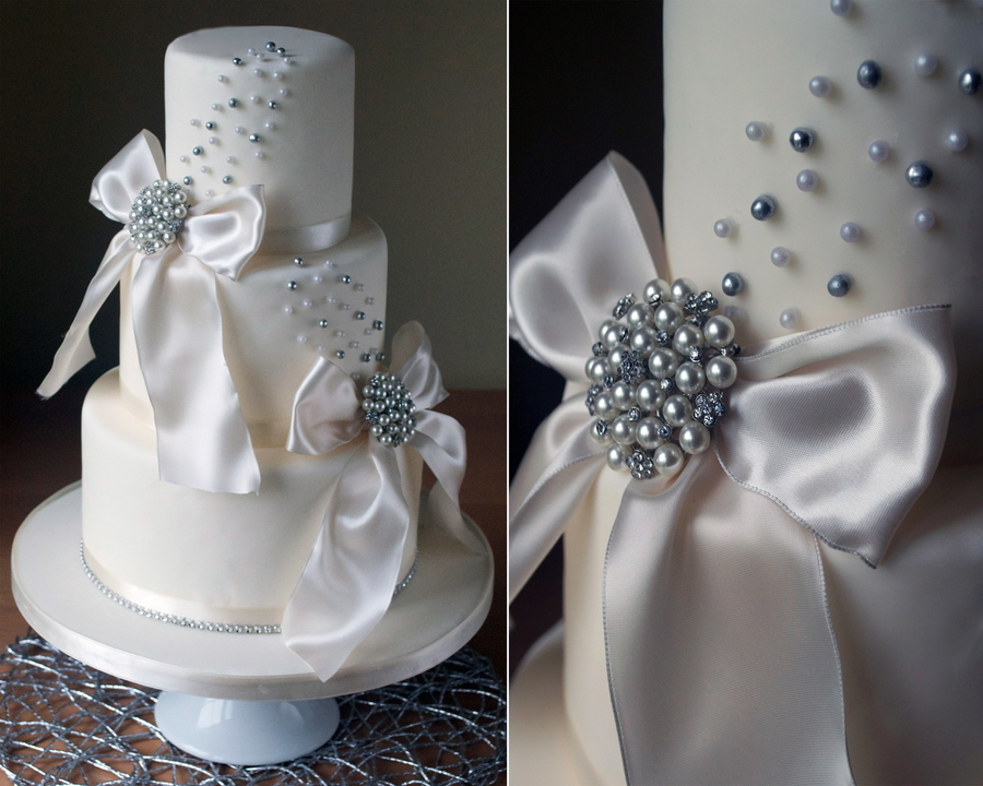 Sparkle Wedding Cake on Cake Central