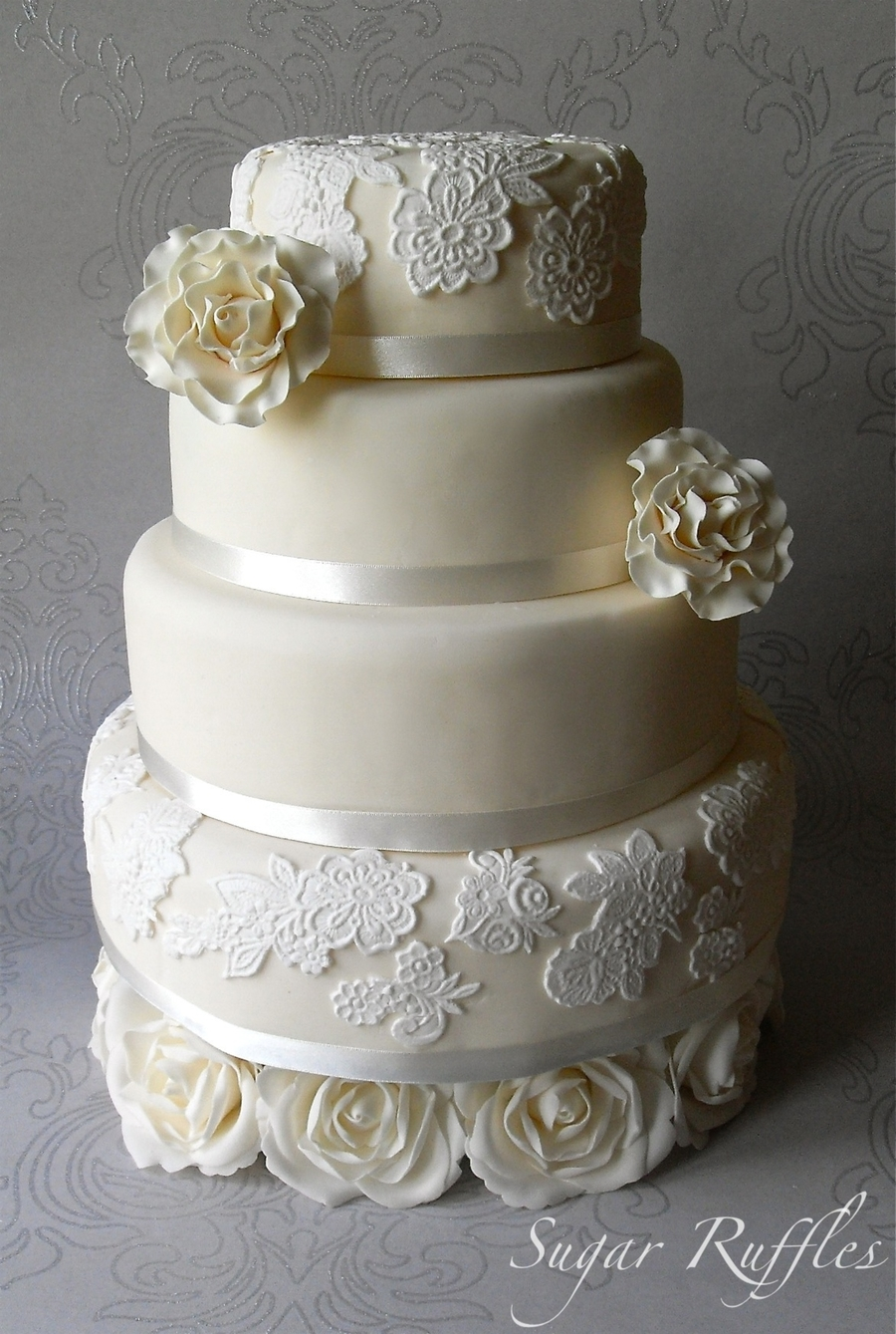 Rose And Lace on Cake Central