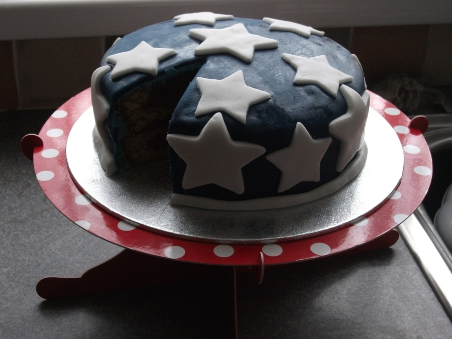 Star Spangled Cake on Cake Central