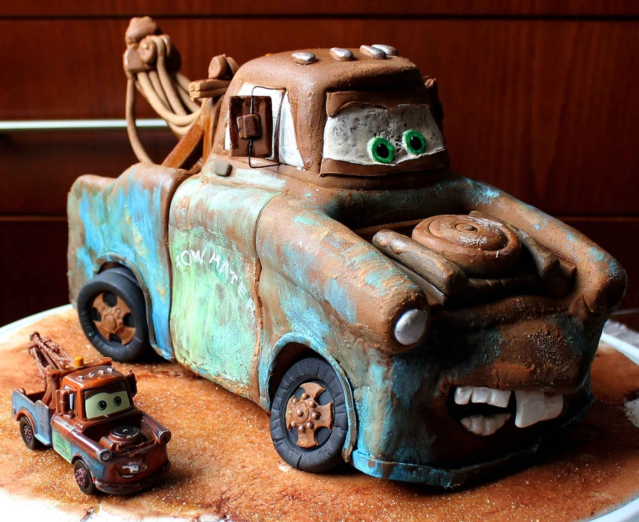 Incredible Tow Mater Birthday Cake Cakecentral Com Funny Birthday Cards Online Alyptdamsfinfo