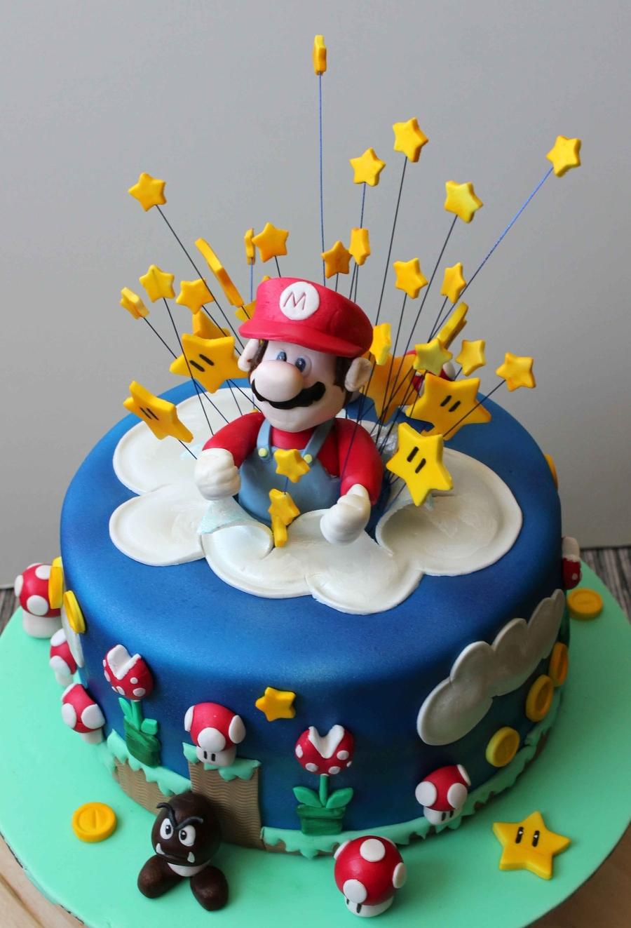 Super Mario Bros Exploding Cake Cakecentral Com