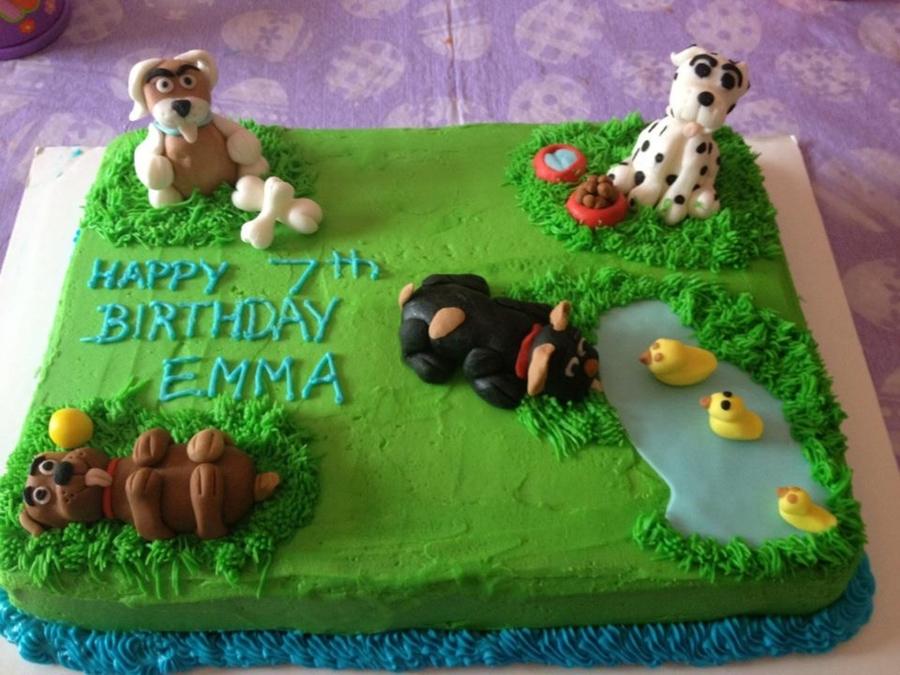 Dog Park Birthday Cake Cakecentral Com