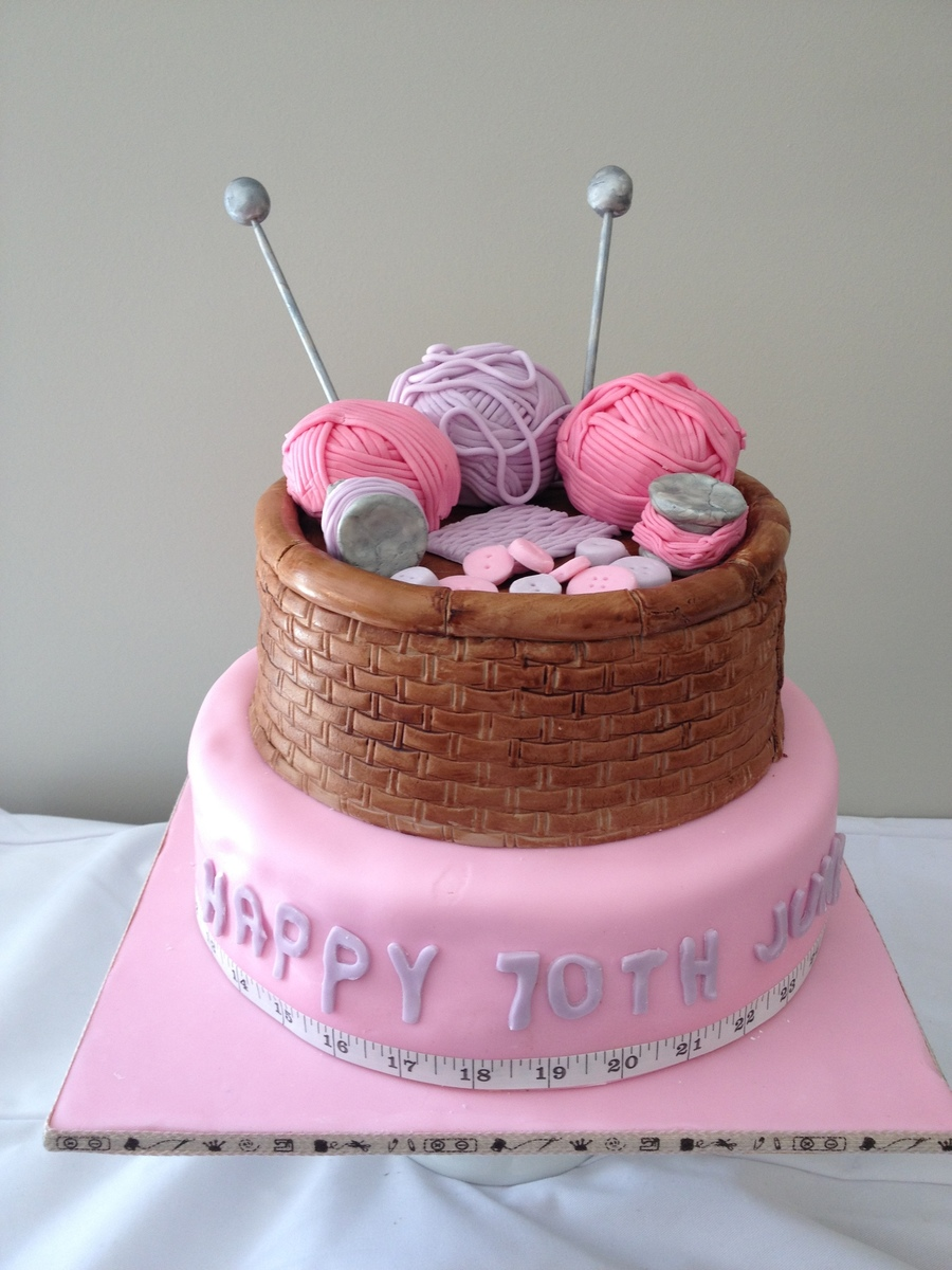Knitting Birthday Meme : Knitting cake cakecentral