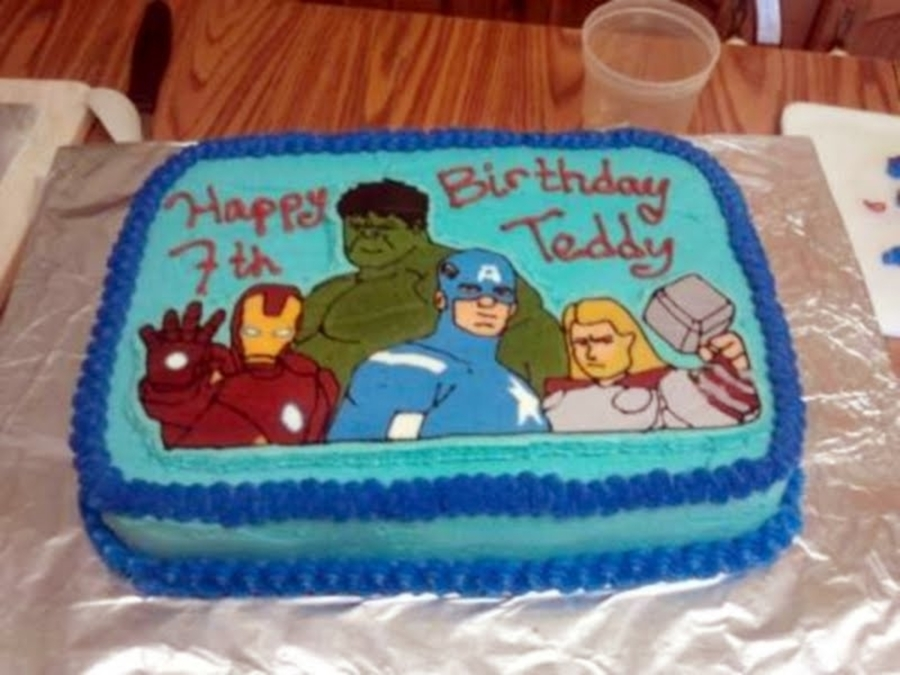Teddy's Avenger Cake on Cake Central