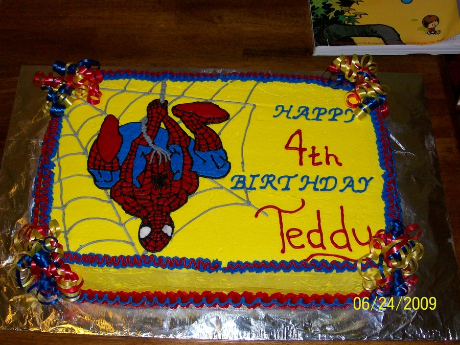 Teddy's 4Th Birthday Cake on Cake Central