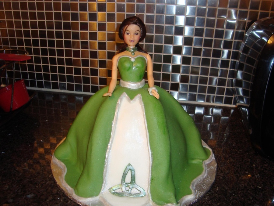 My 3D Celtic Doll Cake on Cake Central