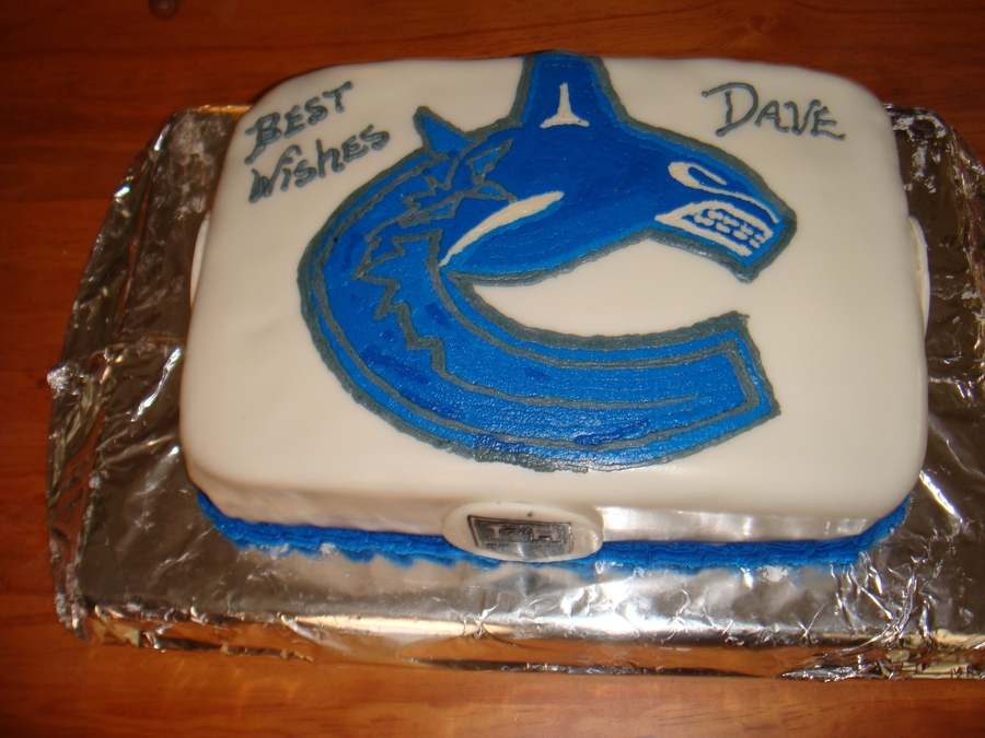 Admirable Vancouver Canucks Cake Cakecentral Com Funny Birthday Cards Online Inifodamsfinfo