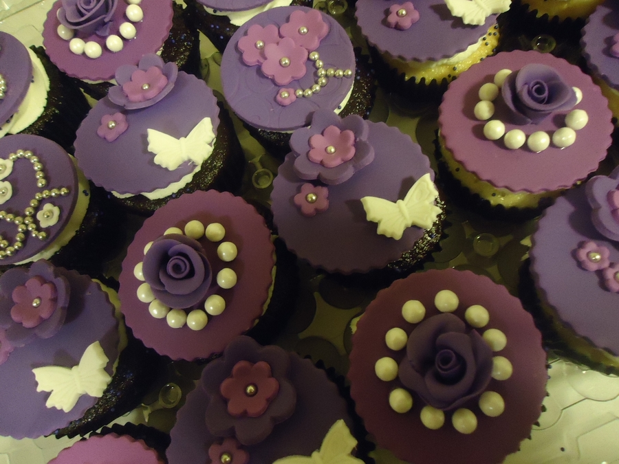 Deep Purple 50Th Birthday Cupcakes on Cake Central