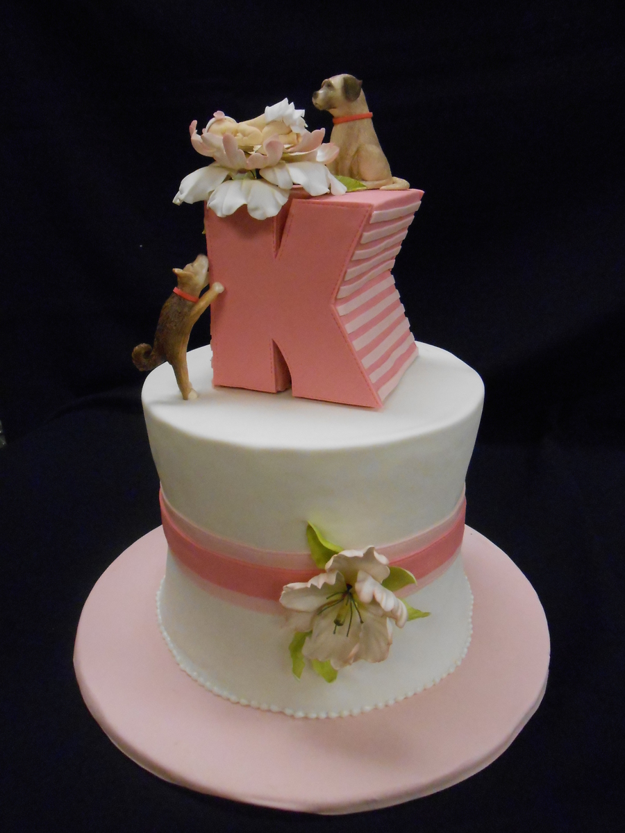 Pink And White Baby Shower Cake Cakecentral Com
