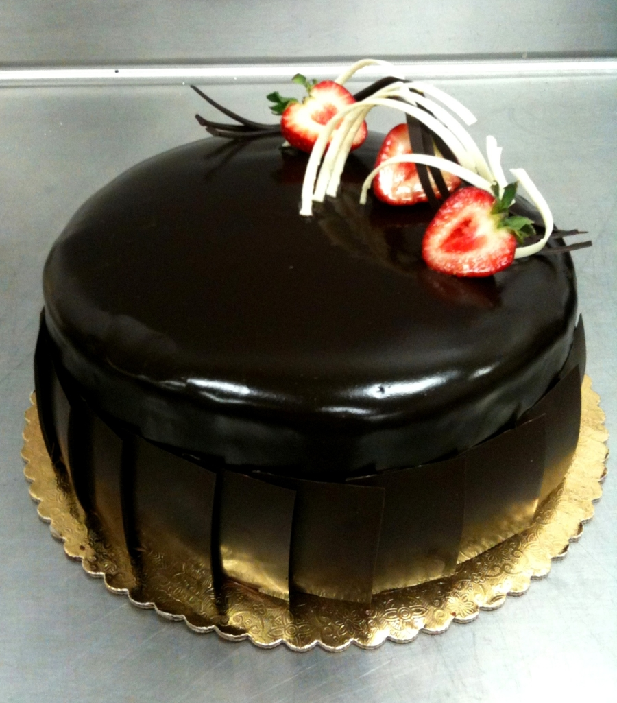 Enrobed Chocolate Cake
