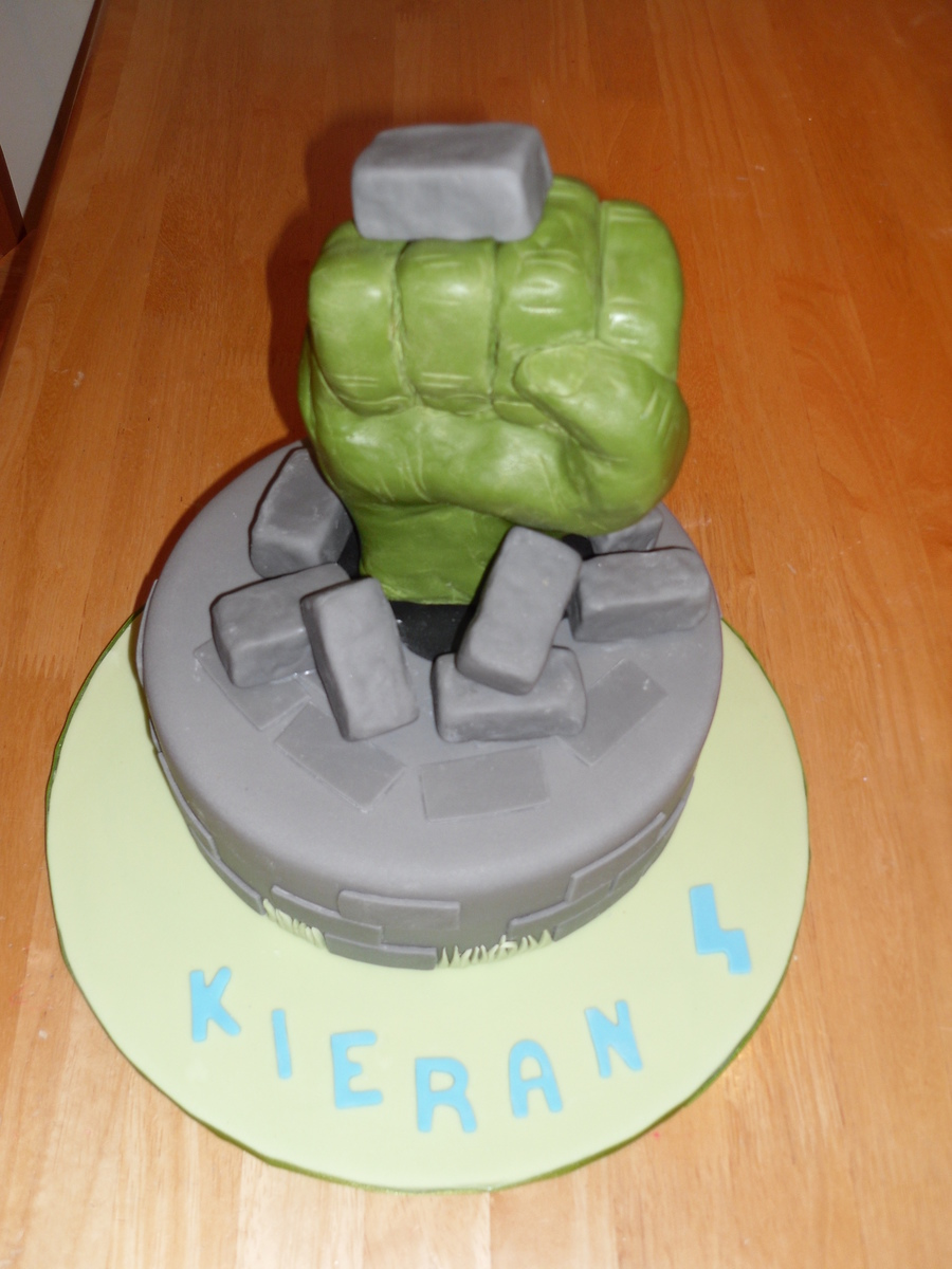 'the Hulk' Fist Cake. on Cake Central
