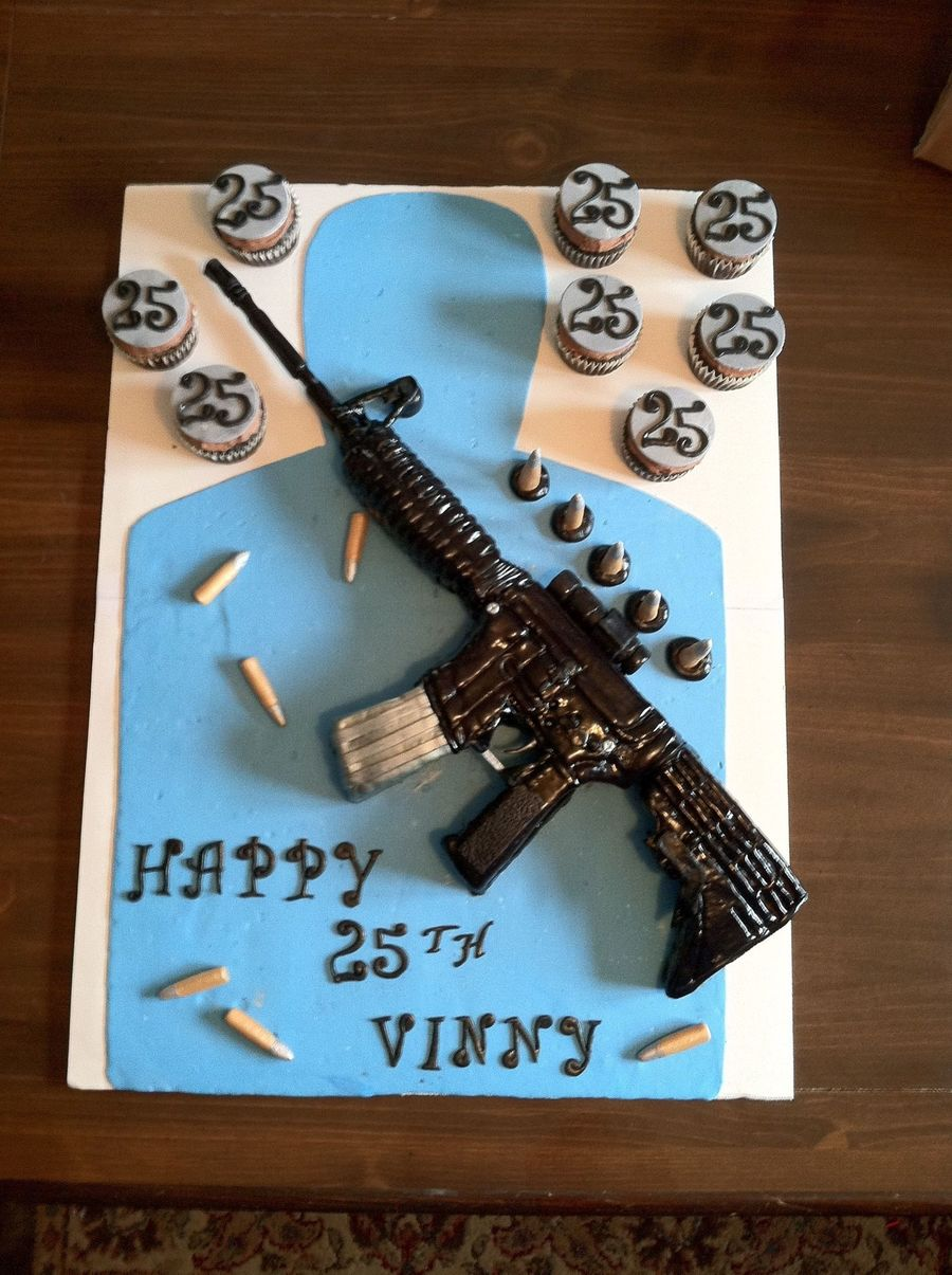 M4 Assault Rifle on Cake Central