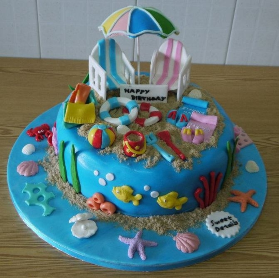 Beach Theme Cake on Cake Central